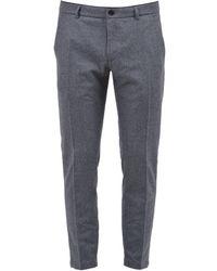 Department 5 Fleece Slim-fit Trousers - Grey