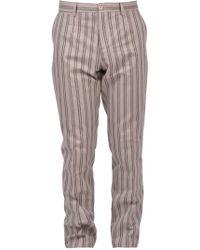 Dolce & Gabbana Pantalone Sartoriale a Righe - Bianco