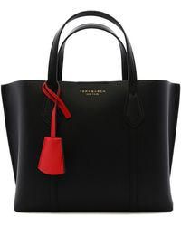 Tory Burch Small Perry Shopping Bag Black