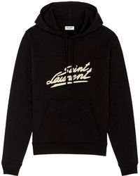 Saint Laurent 50's Signature Hoodie - Black