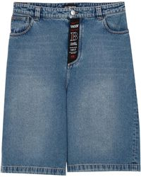 Balenciaga Denim Bermuda Shorts - Blue