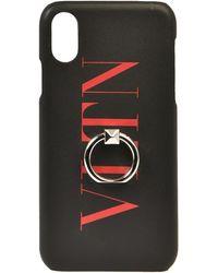 Valentino Garavani Cover I-Phone X/XS VLTN - Nero