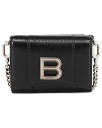 Balenciaga Hourglass Mini Chain Wallet - Black
