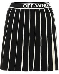 Off-White c/o Virgil Abloh Tachnical Knit Pleated Mini Skirt - Black