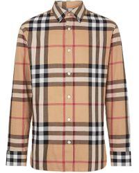 Burberry - Camicia Motivo Vintage Check - Lyst