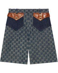 Gucci GG Jacquard Short - Blue
