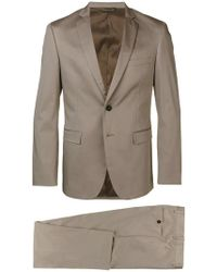 Tonello Beige Suit In Stetch Wool - Natural