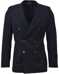 Dolce & Gabbana Double-breasted Blazer - Blue