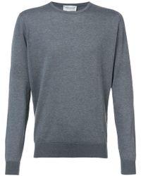 John Smedley - Gray Sweater - Lyst
