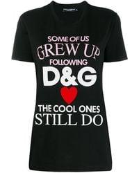 Dolce & Gabbana Printed T-shirt - Black