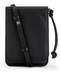Loewe Gusset Flat Crossbody Bag - Black