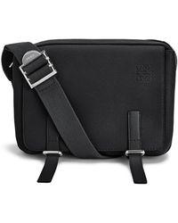 Loewe Military Messenger Bag Xs - Black
