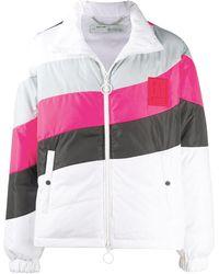 Off-White c/o Virgil Abloh Quilted Nylon Cropped Puffer Jacket - Pink