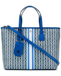 Tory Burch Gemini Link Bag Small Blue
