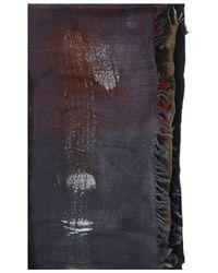 Faliero Sarti Sciarpa in lana multicolor - Blu