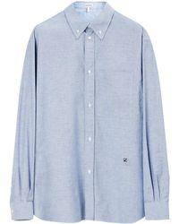 Loewe Button Down Shirt In Cotton - Blue
