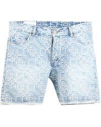 CASABLANCA Monogram Bermuda Shorts - Blue