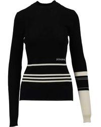 CALVIN KLEIN 205W39NYC Viscose & Wool Jumper - Black