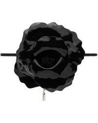 Saint Laurent Camelia Choker Necklace - Black
