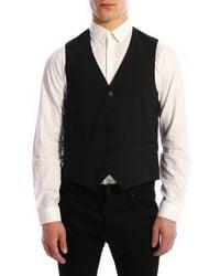 Tonello Wool Vest - Black