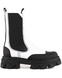 Ganni Chelsea Boots White