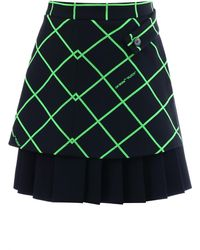 Off-White c/o Virgil Abloh Multi-panel Flock Mini Skirt - Black