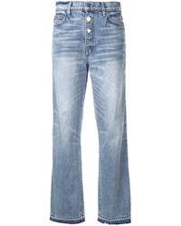 Amiri Jeans con Banda Glitter - Blu