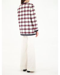 Gucci Checked Tweed Jack - White