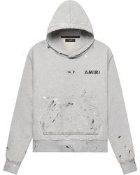 Amiri Ay Painted Hoodi - Gray