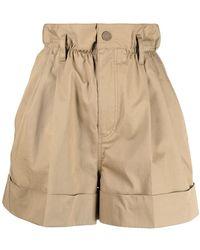Moncler High-waisted Shorts - Natural