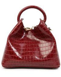 Elleme Baozi Croco Bag - Red