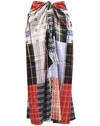 Ganni Patchwork Silk Skirt - Multicolor