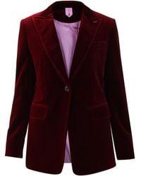 Max Mara Burgundy Velvet Jacket - Purple