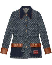 Gucci Organic Denim Jacket With Eco Wash - Blue