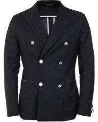 Tonello Double-breasted Jacket - Gray