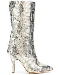Paris Texas Metallic Snake-effect 95mm Boots