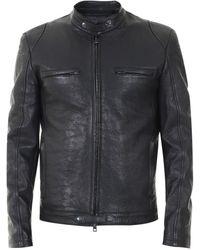 Salvatore Santoro Leather Biker Black