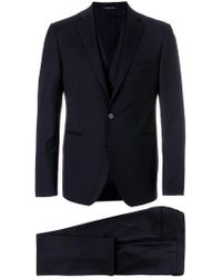 Tagliatore Black Three Piece Suit