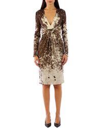 Roberto Cavalli Beige Dress - Natural