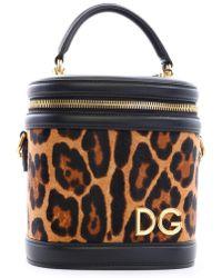 Dolce & Gabbana Bucket Bag Animal Print - Brown
