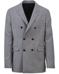 CALVIN KLEIN 205W39NYC Double Breasted Jacket - Gray