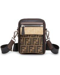 Fendi Nylon Messenger Bag - Black