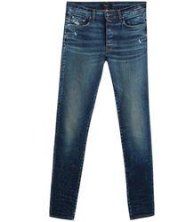 Amiri Slim Jeans In Blue Denim