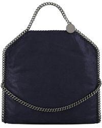 Stella McCartney Falabella Fold Over Tote Bag - Blue