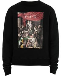 Off-White c/o Virgil Abloh Caravaggio Painting Oversized Hoodie - Black