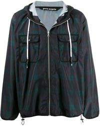 Palm Angels - Checked Windbreaker - Lyst