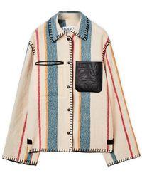 Loewe Virgin Wool Striped Jack - Multicolor