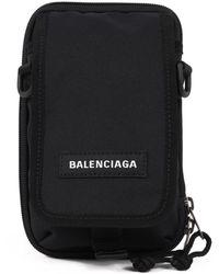 Balenciaga Explorer Nylon Bag - Black