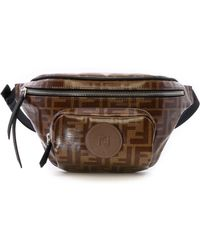 Fendi Belt Bag Ff Brown