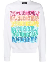 DSquared² Rainbow Logo Sweatshirt - White
